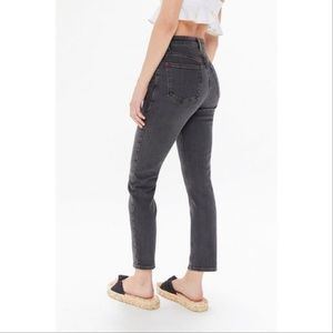BDG Girlfriend Crop High Waist Straight Leg Jeans